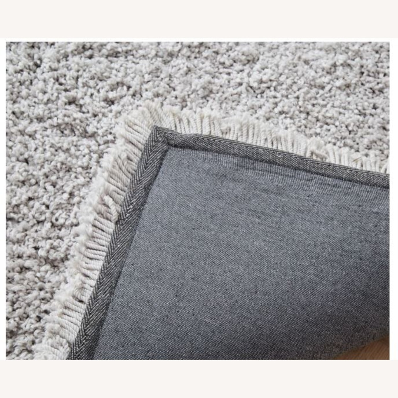 West Elm Frost Gray Plush Rug - image-2