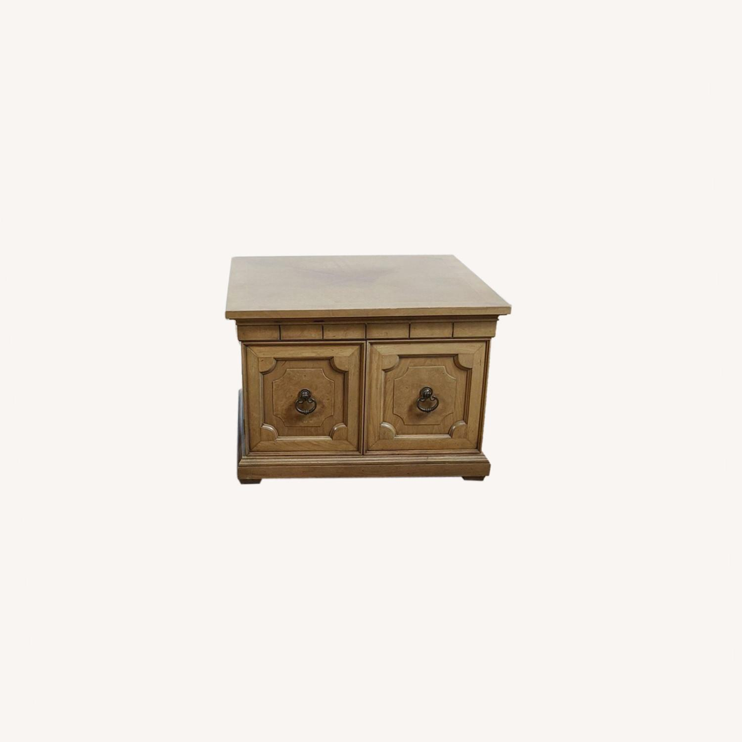 Pair of Vintage Wooden End Tables - image-0