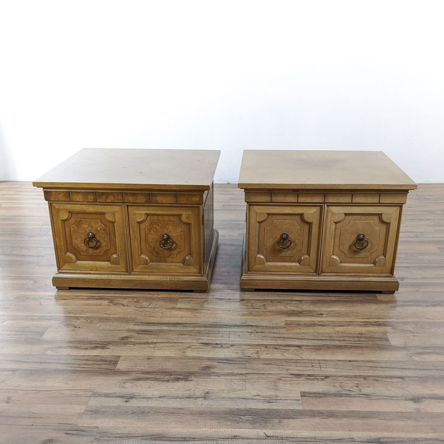 Pair of Vintage Wooden End Tables - image-4