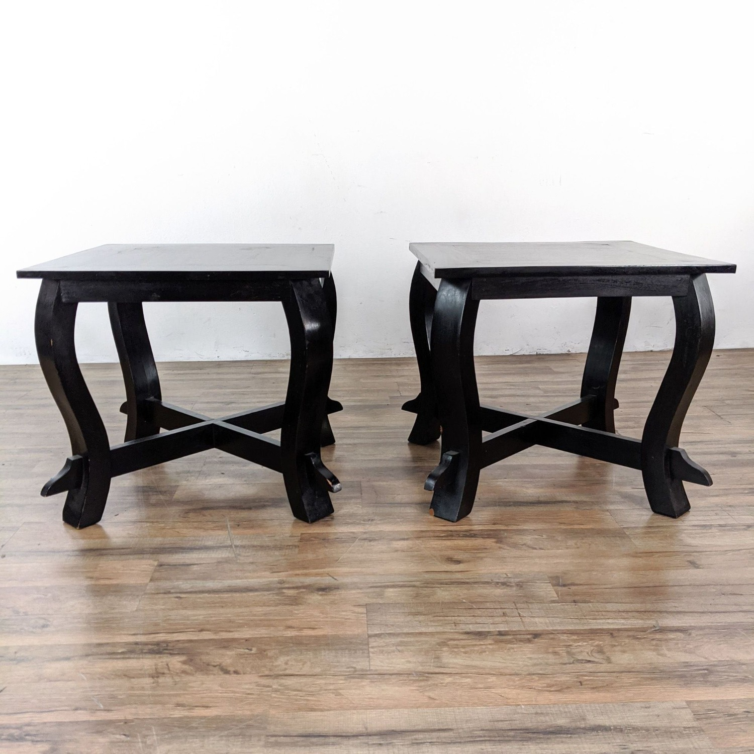 Pair of Wooden End Tables - image-3