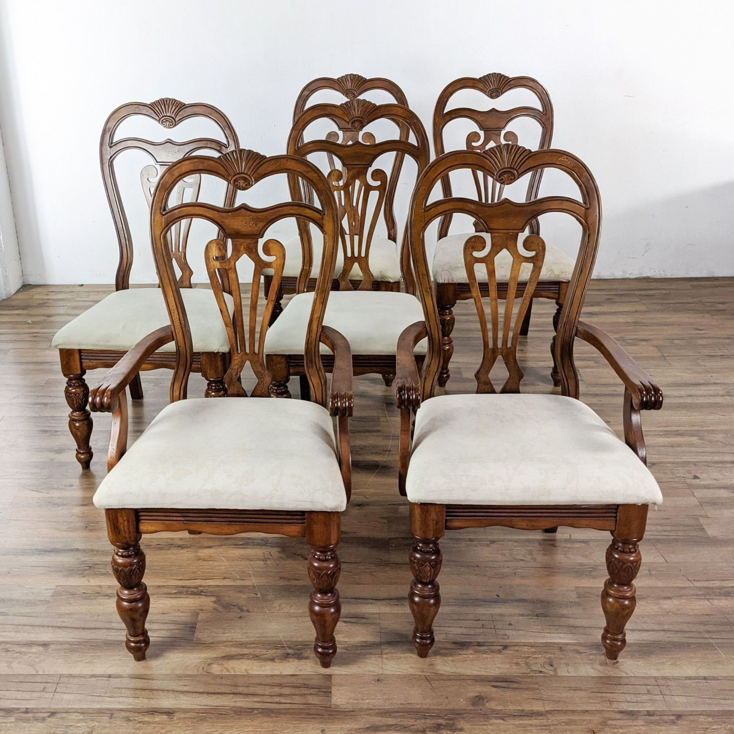 Set of 6 Wooden Dining Chairs - image-3