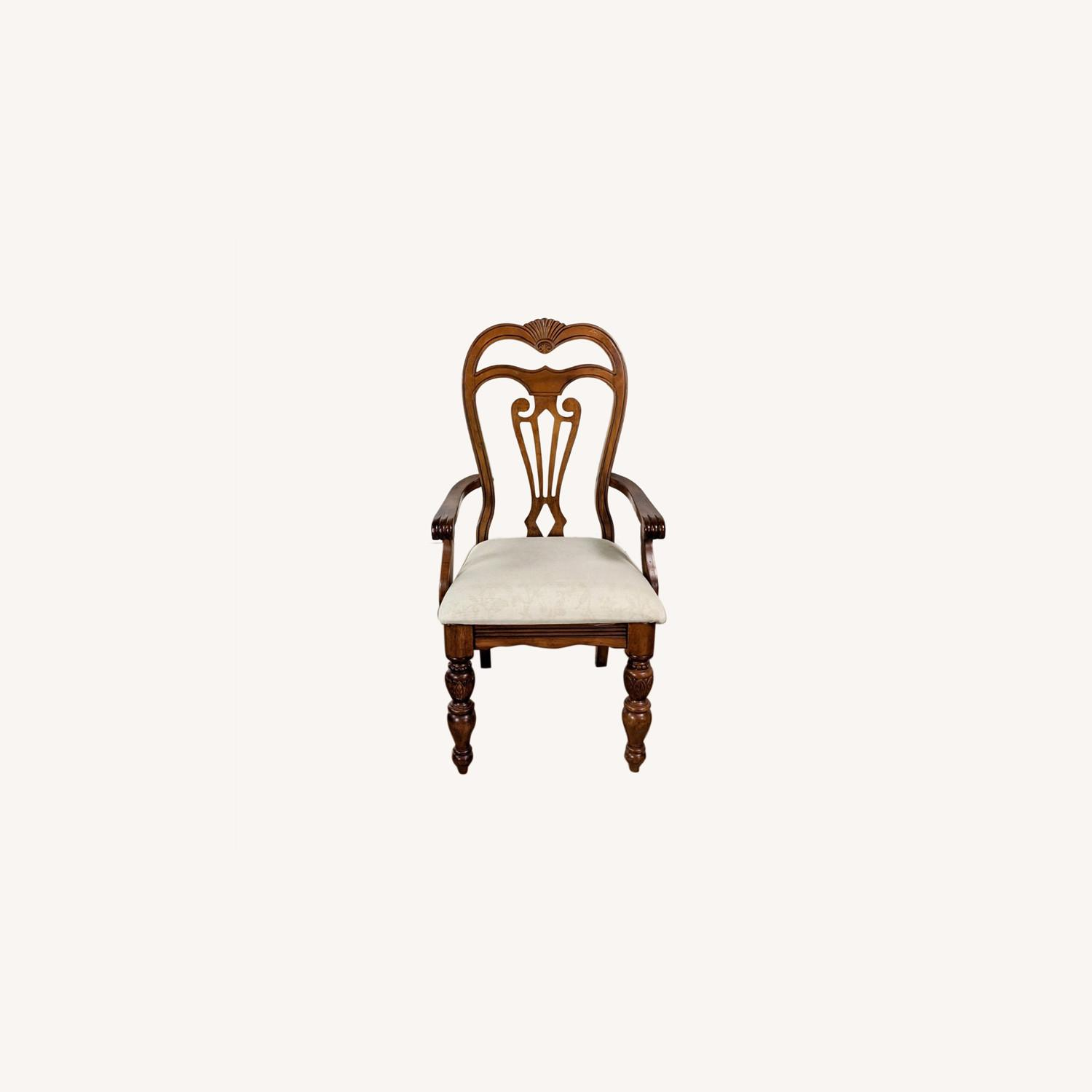 Set of 6 Wooden Dining Chairs - image-0