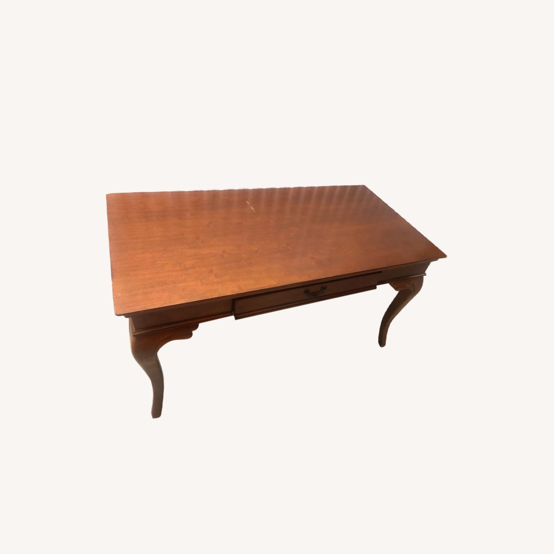 Vintage Wood Executive Desk - image-0