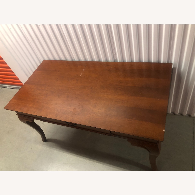 Vintage Wood Executive Desk - image-3