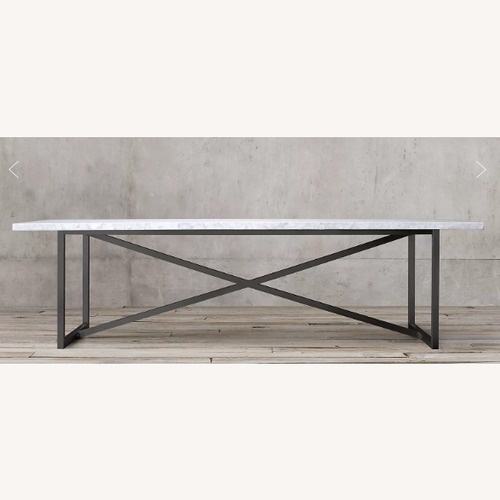 Used Restoration Hardware Torano Marble Table for sale on AptDeco