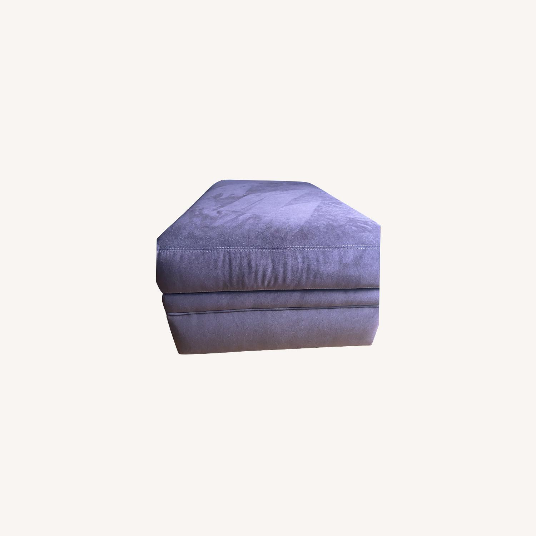 American Leather Storage Ottoman - image-0
