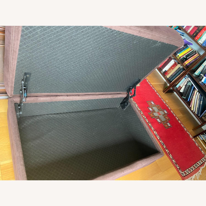 American Leather Storage Ottoman - image-2