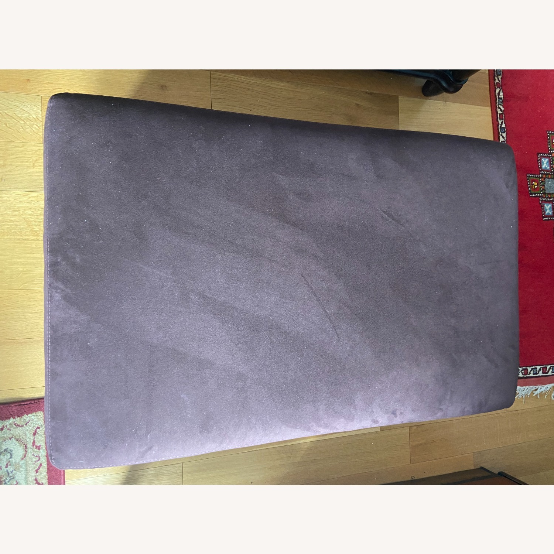 American Leather Storage Ottoman - image-1