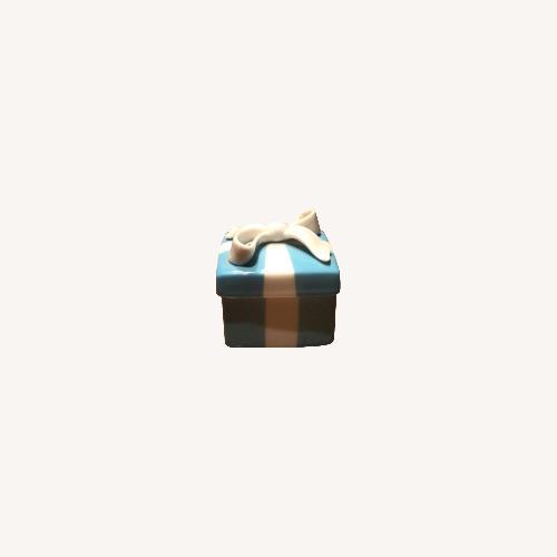 Used Tiffany Porcelain Blue Porcelain gift box for sale on AptDeco