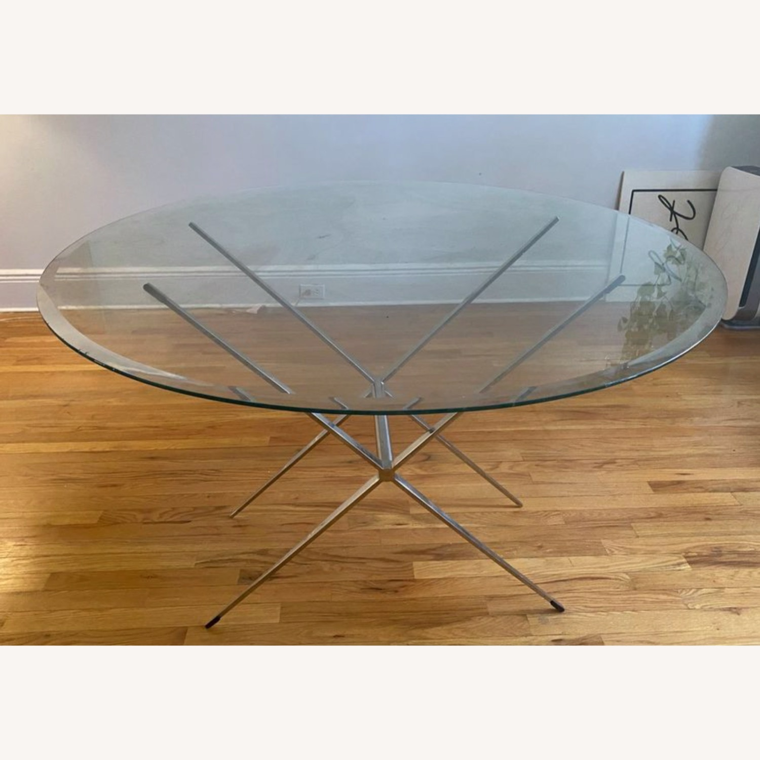 Vintage Glass Coffee Table with Reversible Stand - image-3