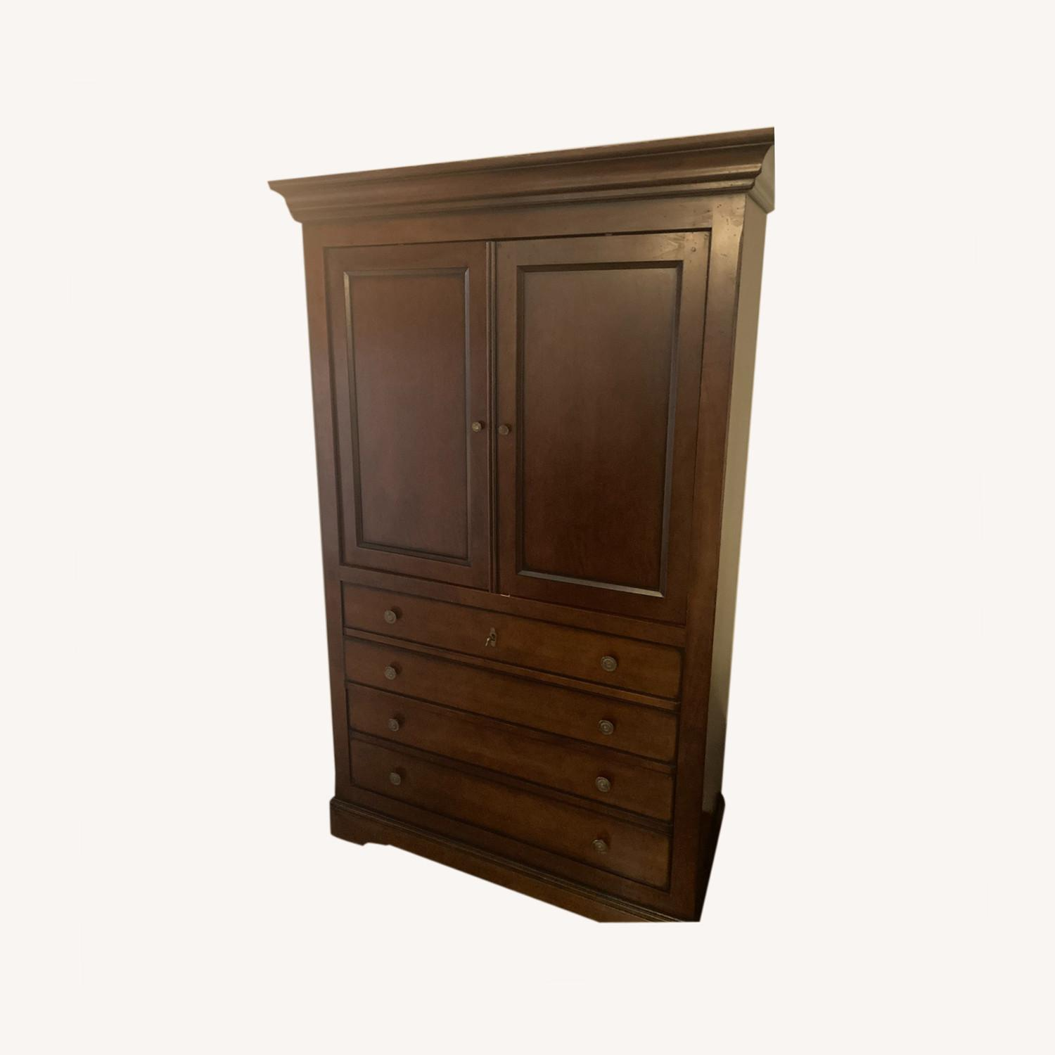 Solid Wood Armoire - image-0
