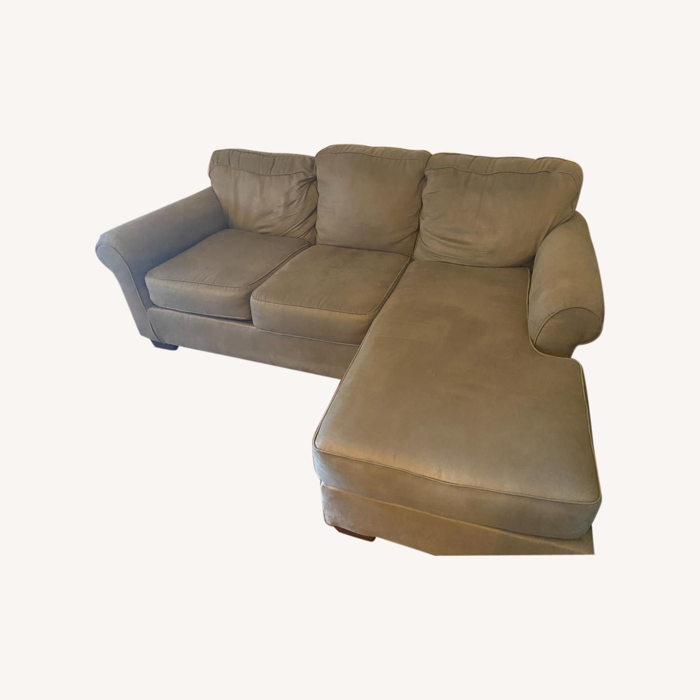 Raymour & Flanigan Raina Chaise Sectional Sofa - image-0