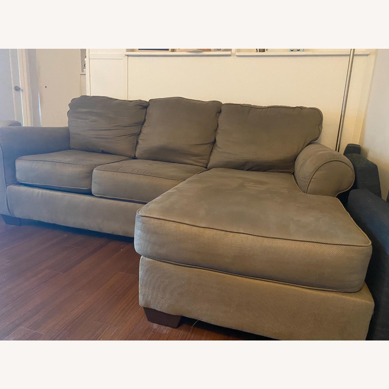 Raymour & Flanigan Raina Chaise Sectional Sofa - image-3