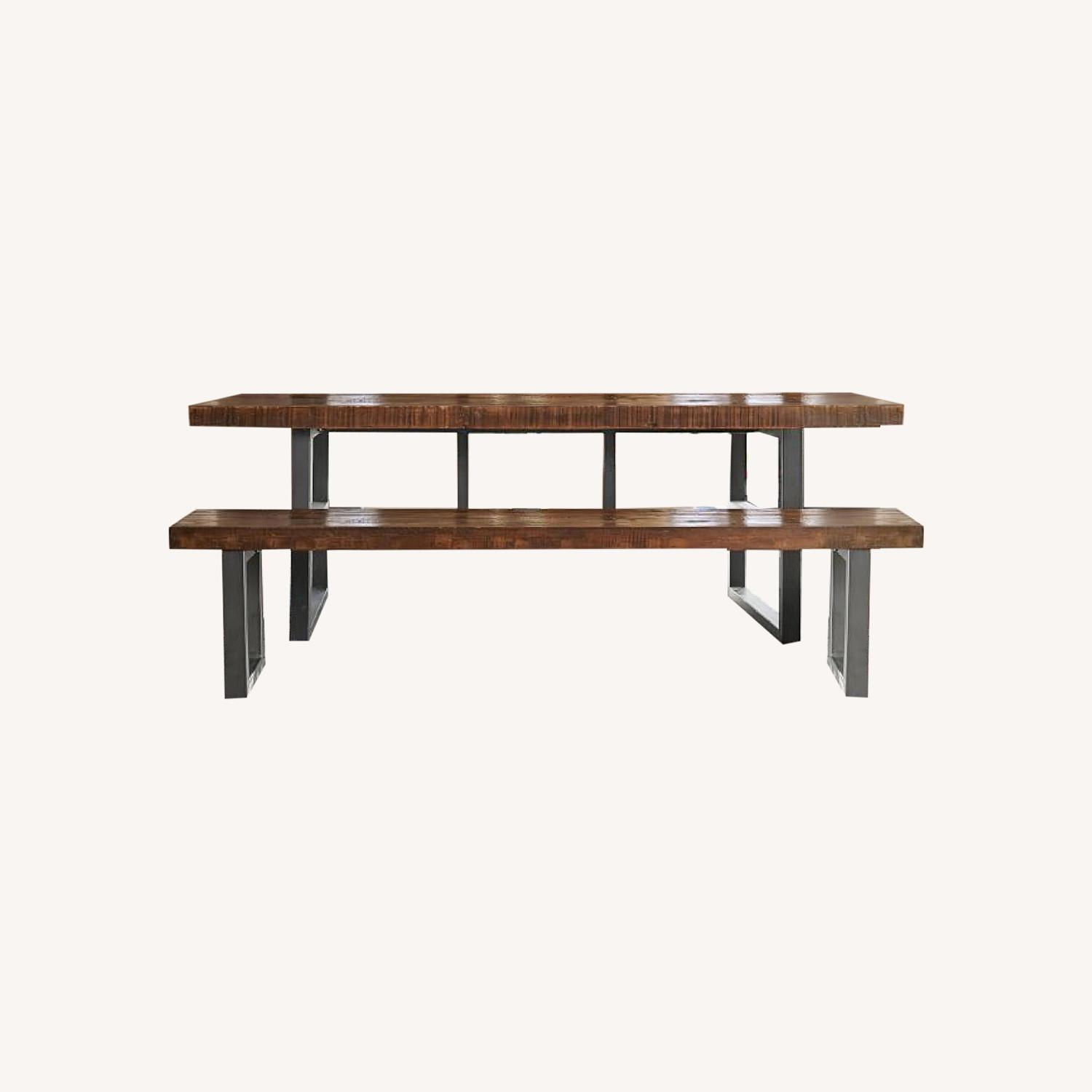 Pottery Barn Griffin Reclaimed Wood Dining Table - image-0