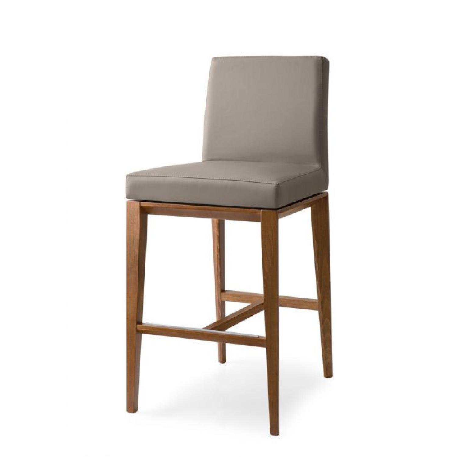 Calligaris Bess Barstools -Taupe Leather - image-5