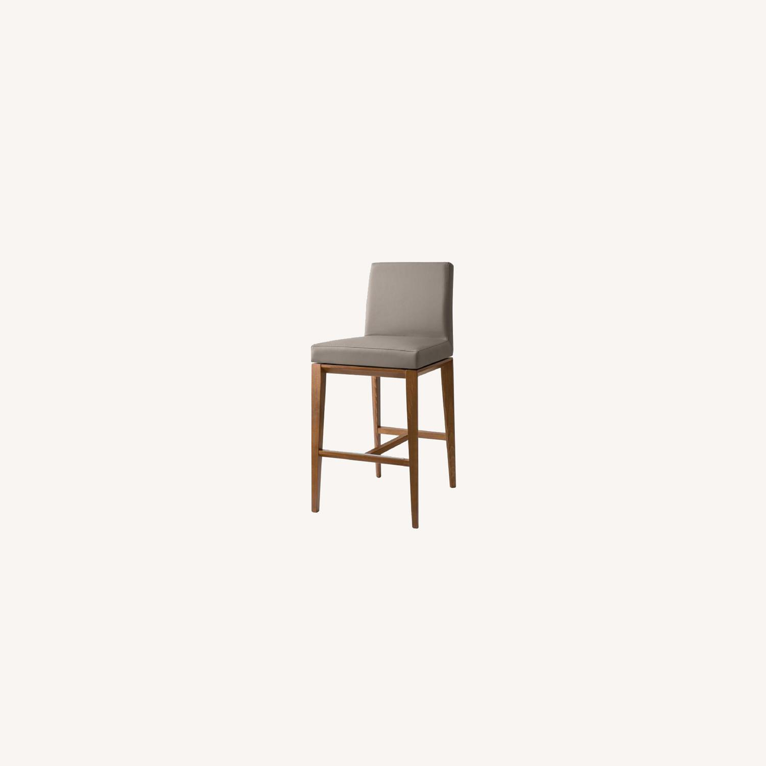Calligaris Bess Barstools -Taupe Leather - image-0