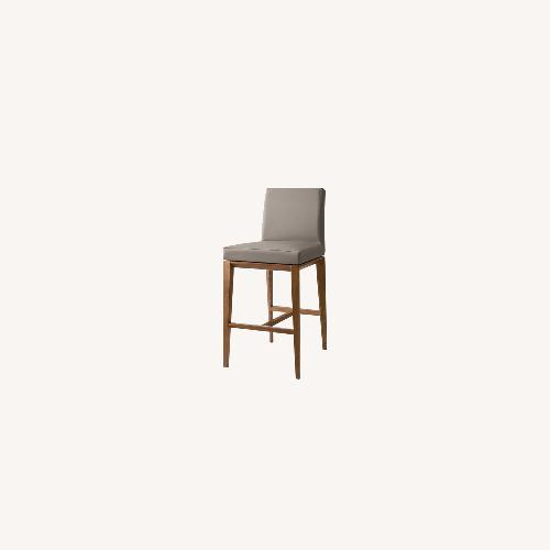 Used Calligaris Bess Barstools -Taupe Leather for sale on AptDeco
