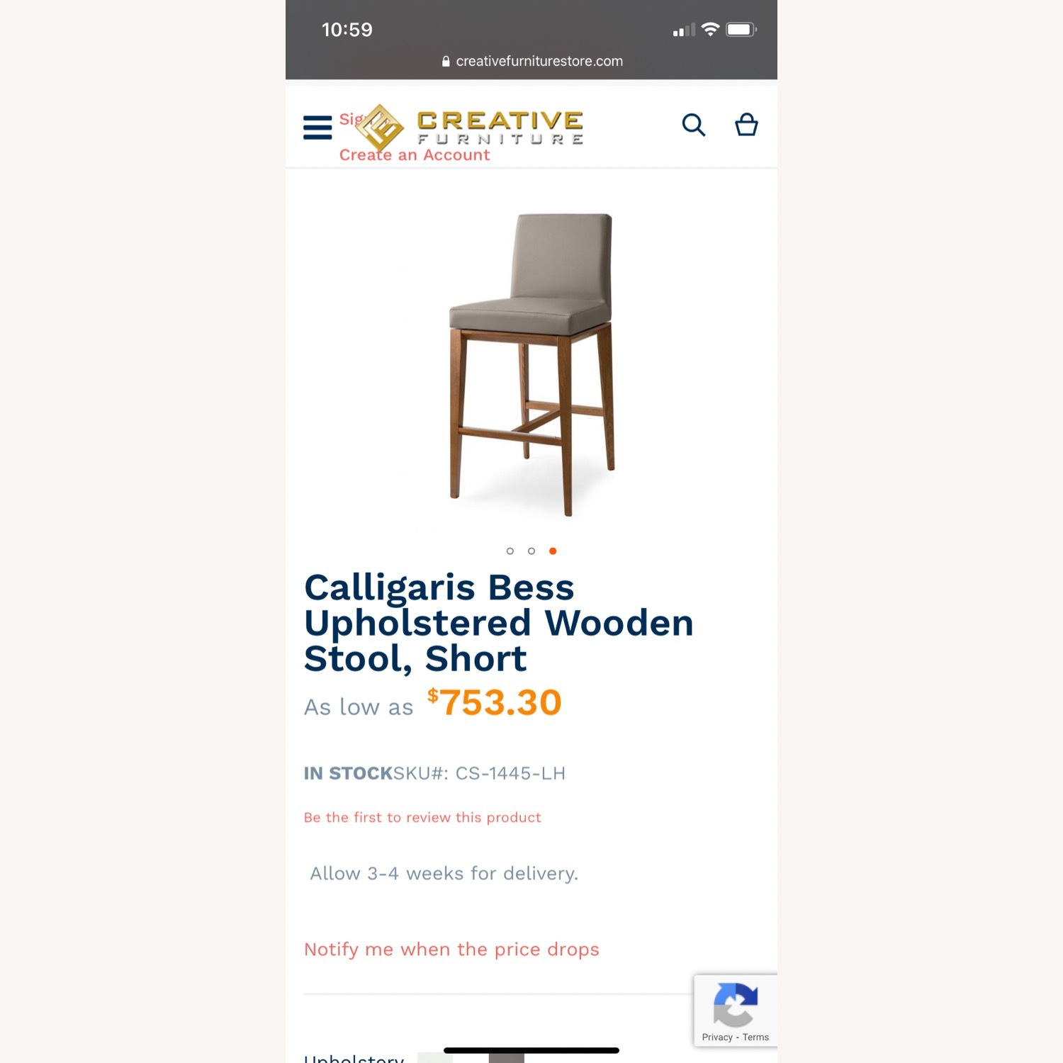 Calligaris Bess Barstools -Taupe Leather - image-4