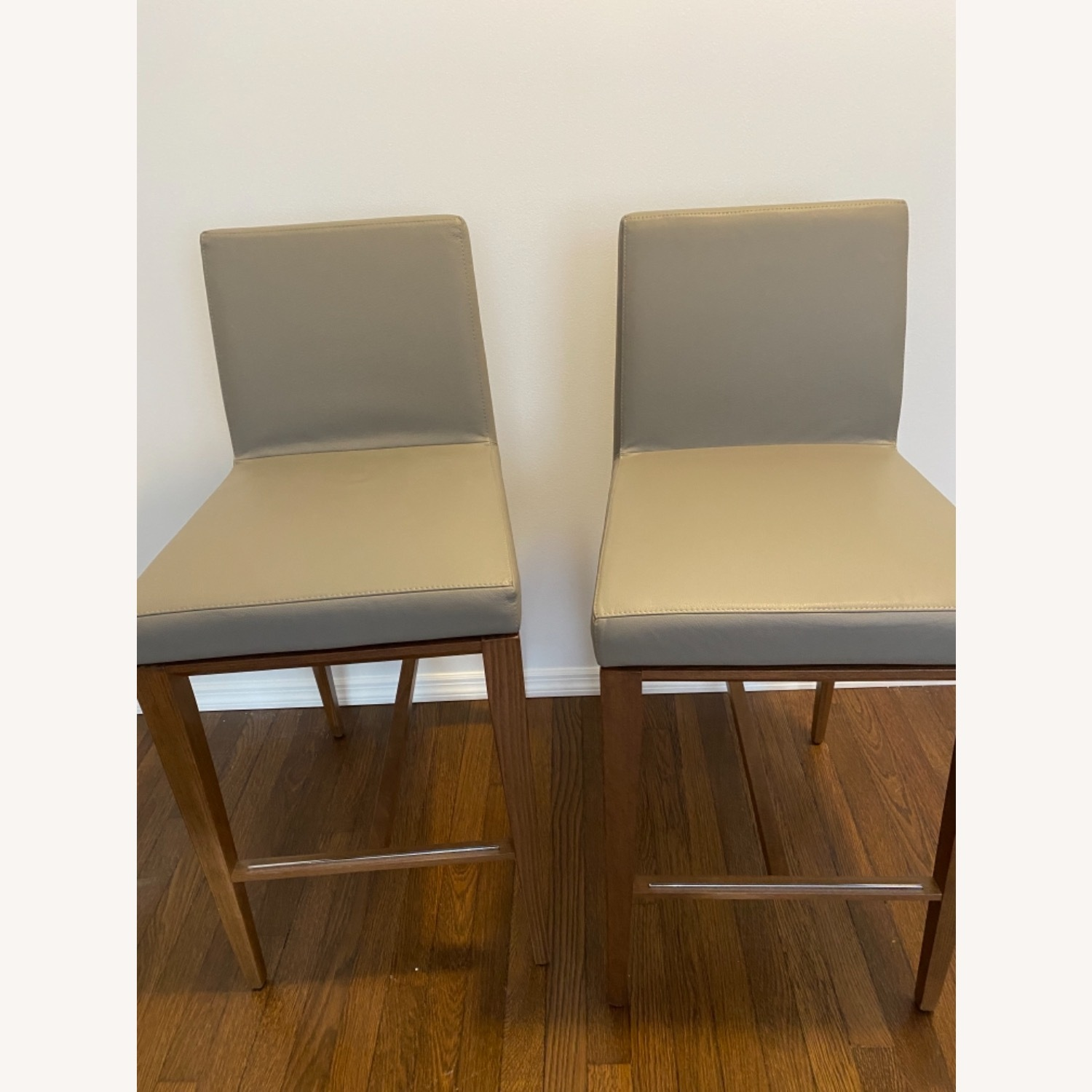 Calligaris Bess Barstools -Taupe Leather - image-1