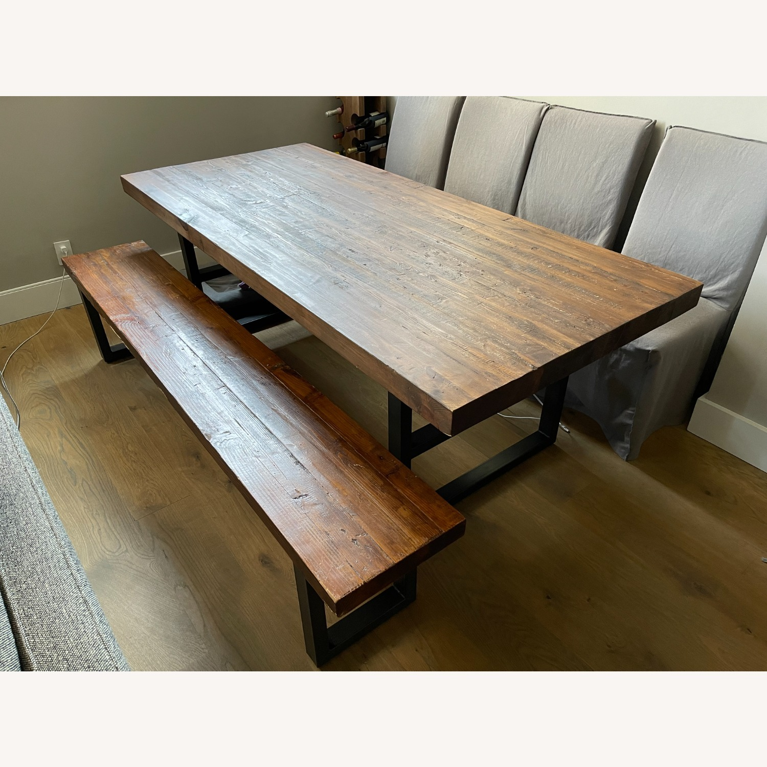 Pottery Barn Griffin Reclaimed Wood Dining Bench - image-1