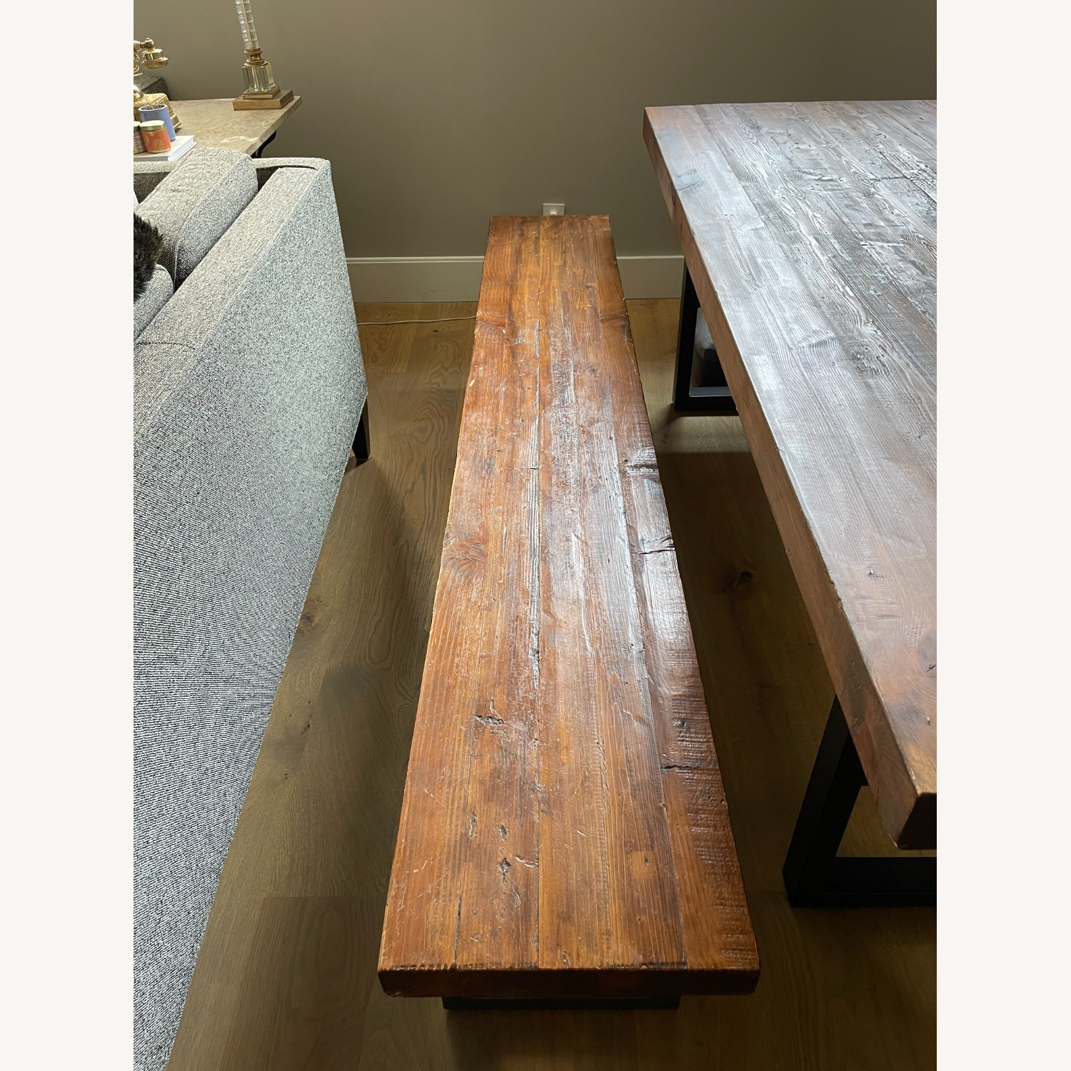 Pottery Barn Griffin Reclaimed Wood Dining Bench - image-2
