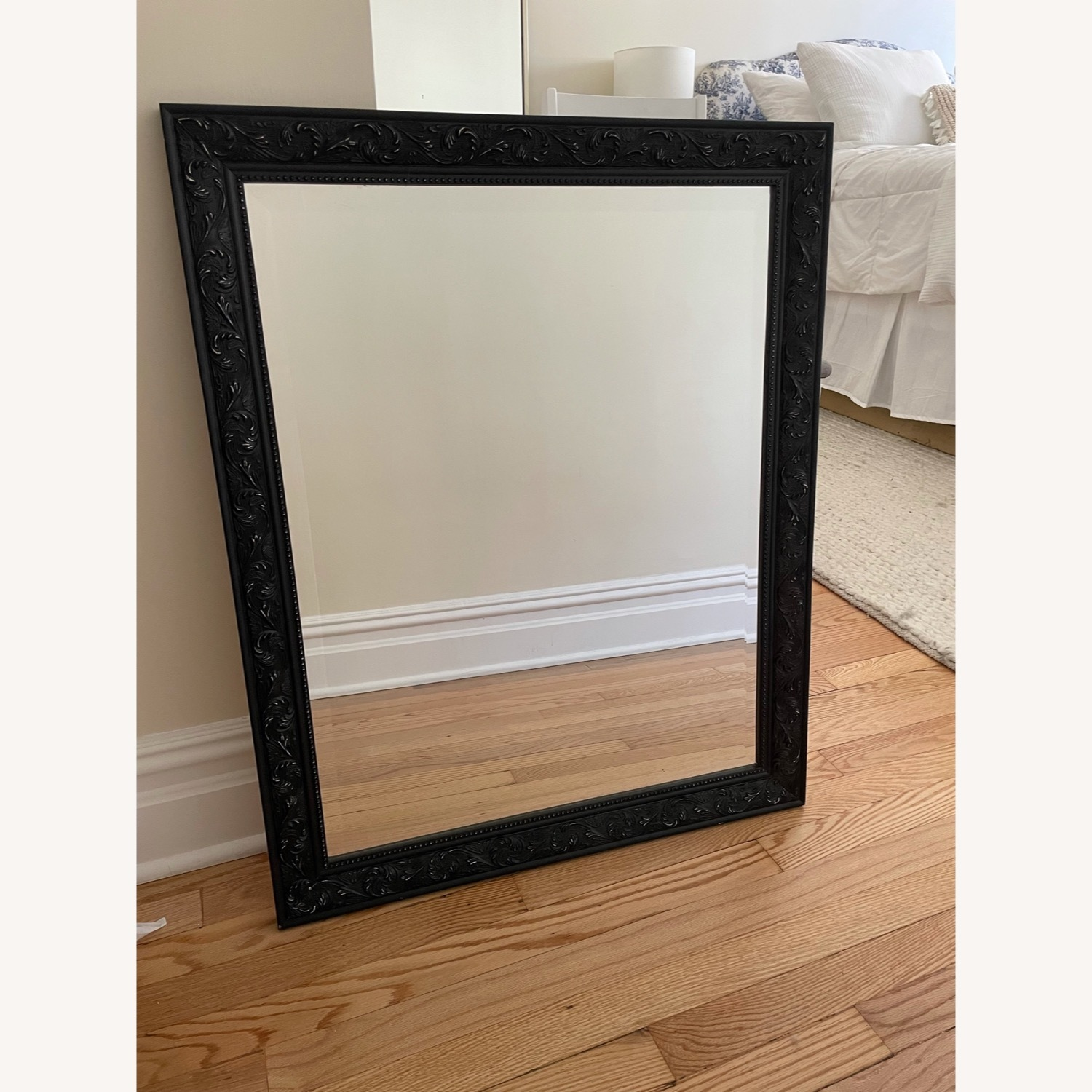 Mirror with Black Detailed Frame - image-1