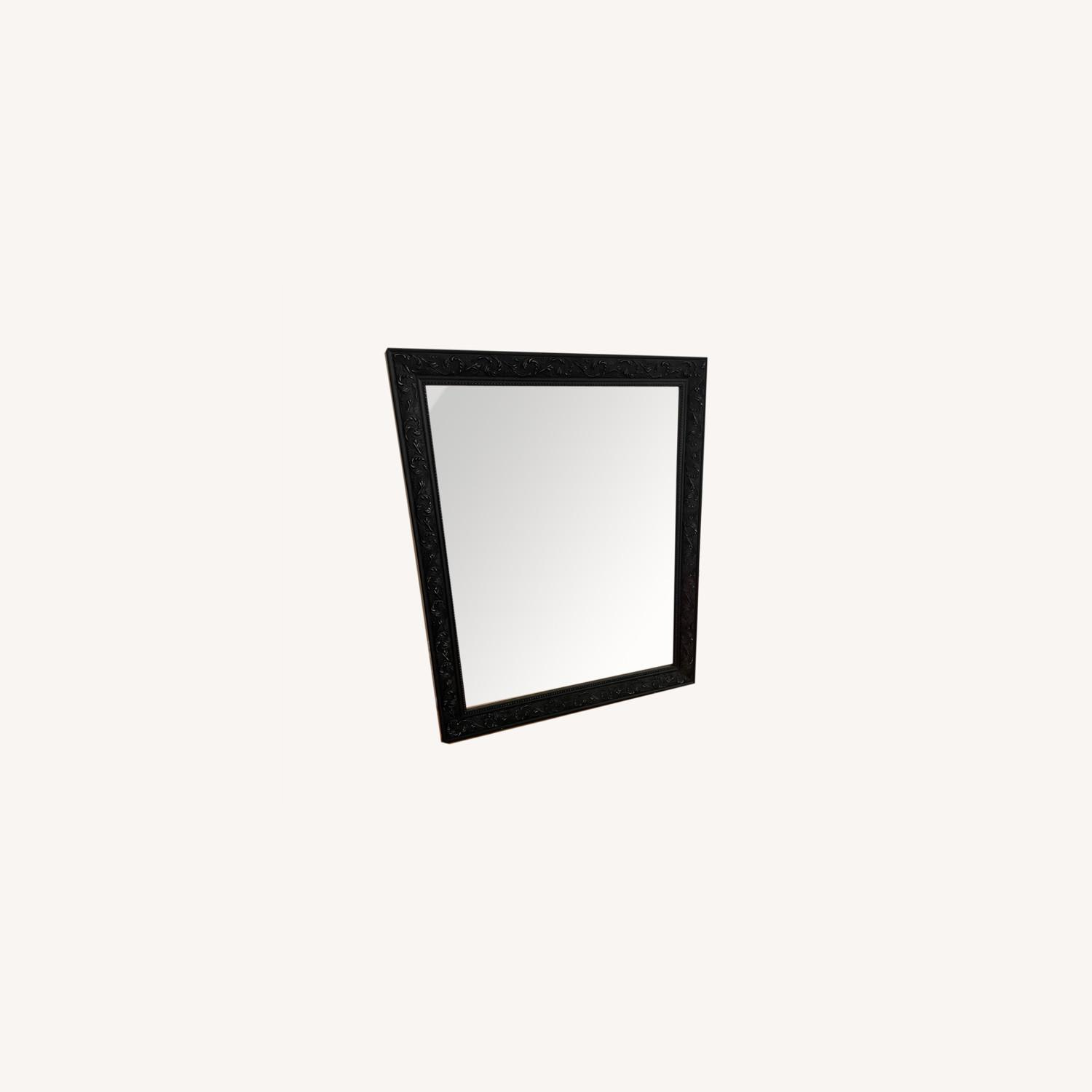 Mirror with Black Detailed Frame - image-0