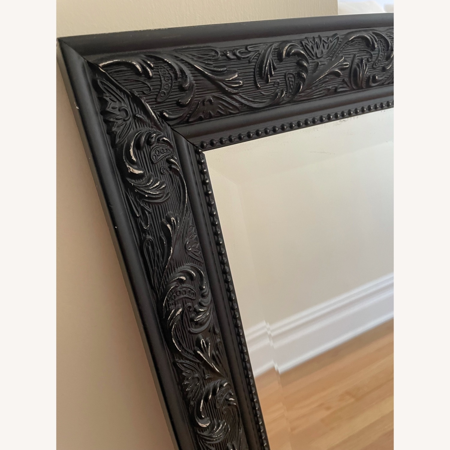 Mirror with Black Detailed Frame - image-2