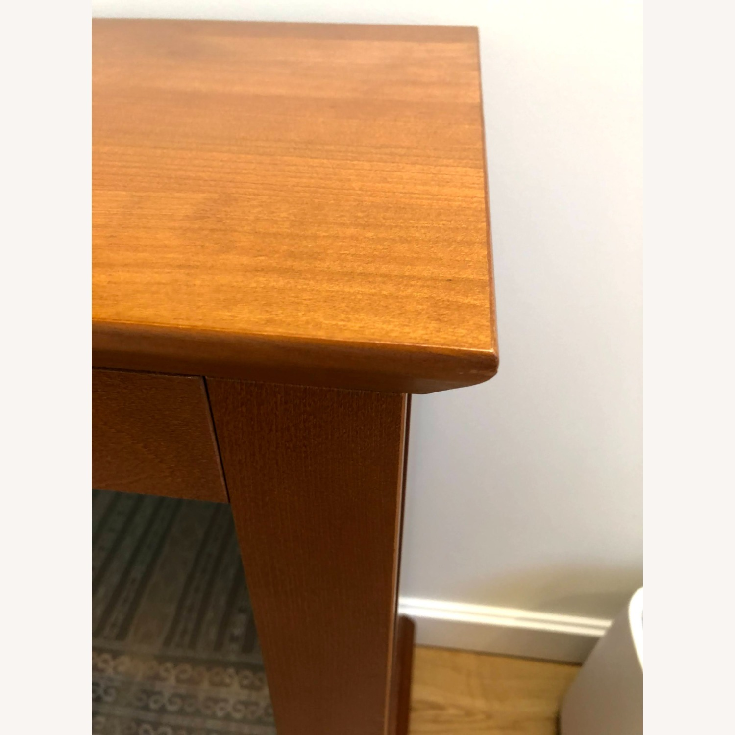 Wood Cherry and Glass Credenza - image-3