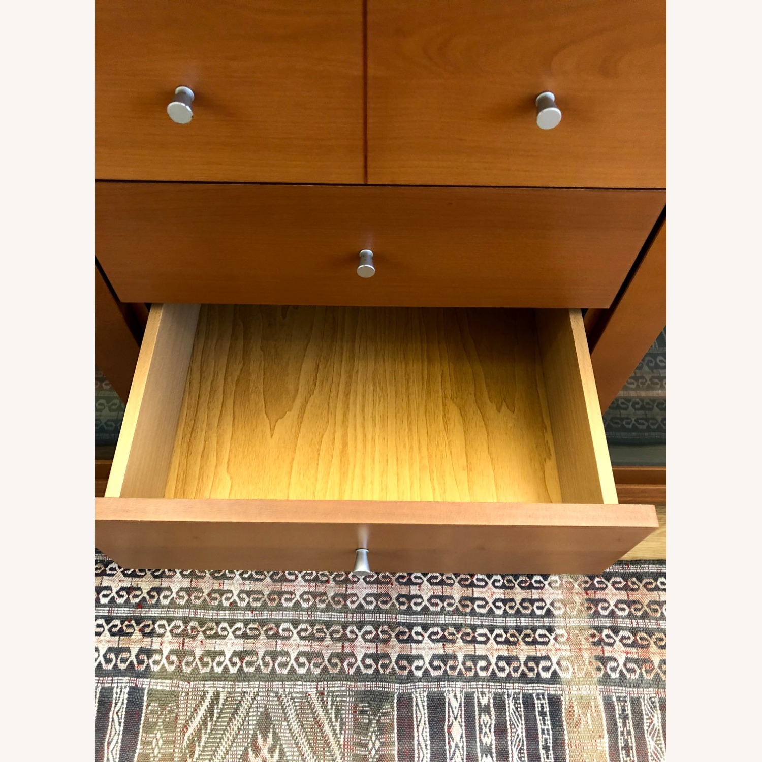 Wood Cherry and Glass Credenza - image-5