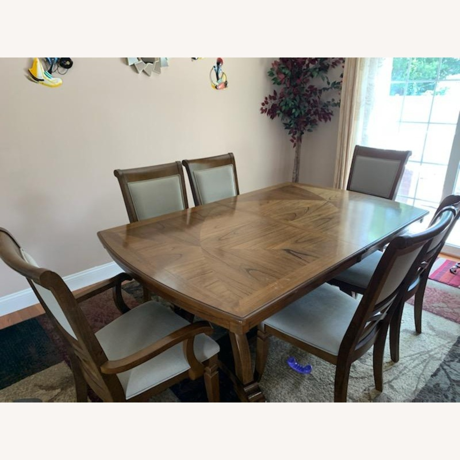 Raymour & Flanigan Dining Table set with 6 chairs - image-2