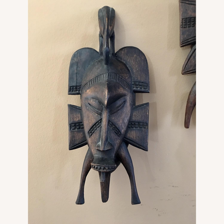 African Hanging Sculpture/ Mask - image-1