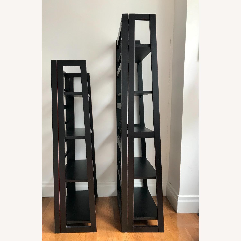 Pier 1 Imports Black Folding Bookcase (Large) - image-4
