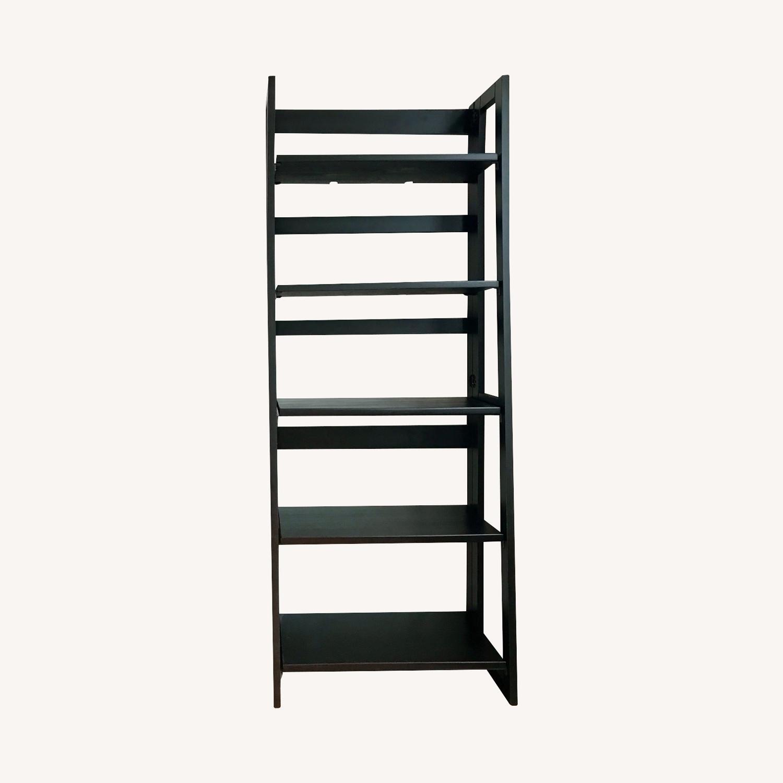 Pier 1 Imports Black Folding Bookcase (Large) - image-0