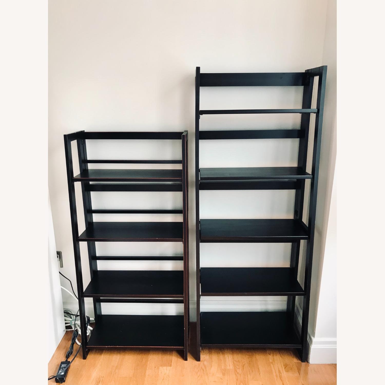 Pier 1 Imports Black Folding Bookcase (Large) - image-6