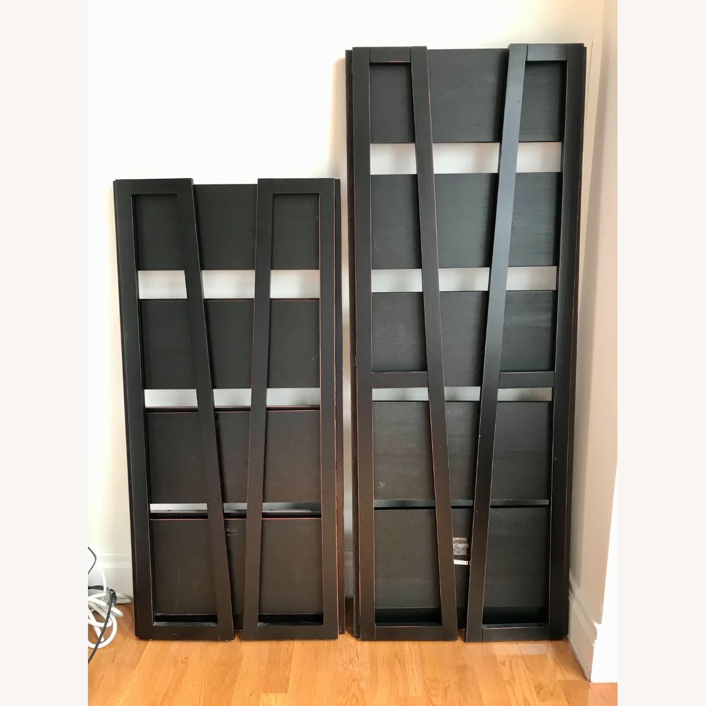 Pier 1 Imports Black Folding Bookcase (Small) - image-2