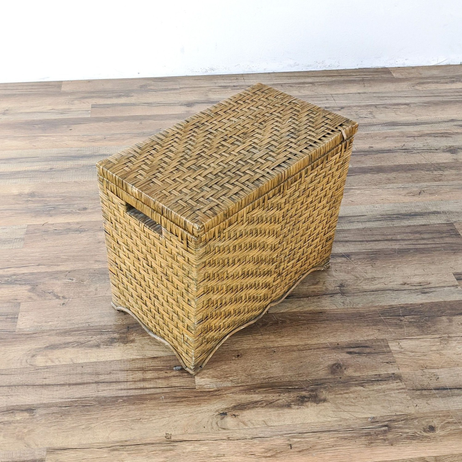 Wicker Table and Storage Chest - image-3