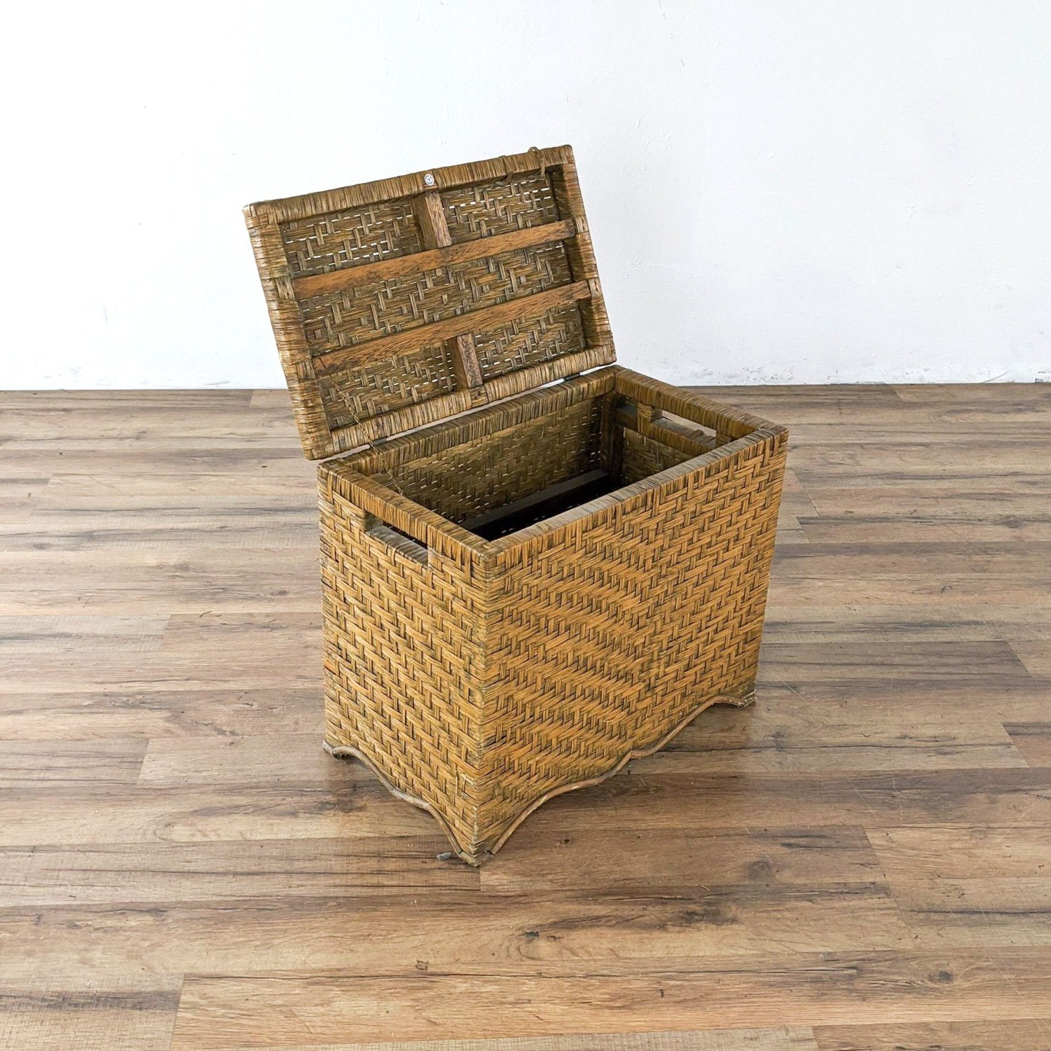 Wicker Table and Storage Chest - image-2