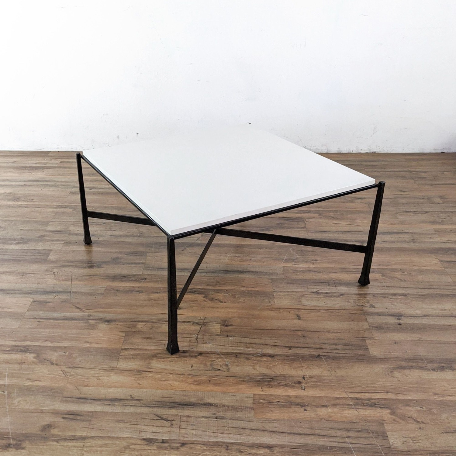 Wrought Iron Base Coffee Table - image-1