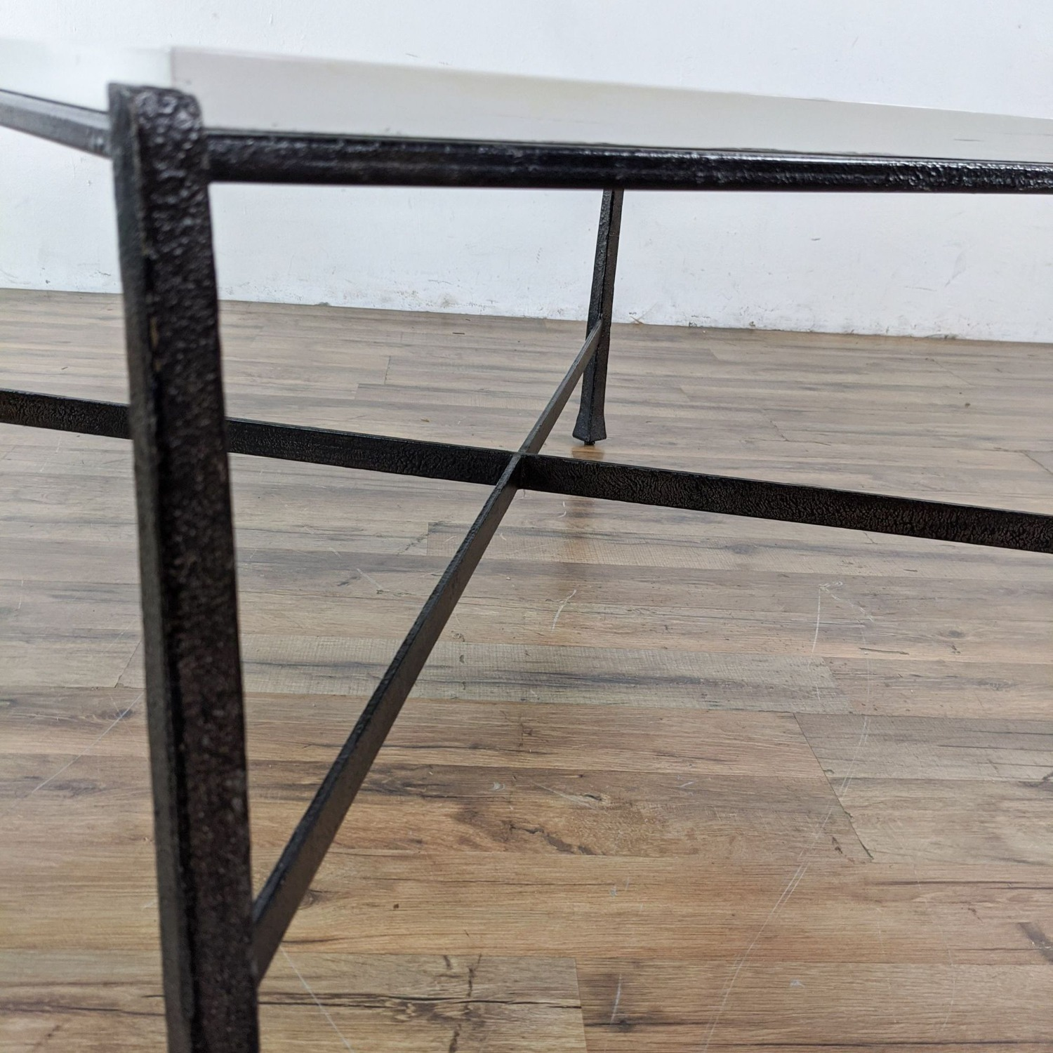Wrought Iron Base Coffee Table - image-2