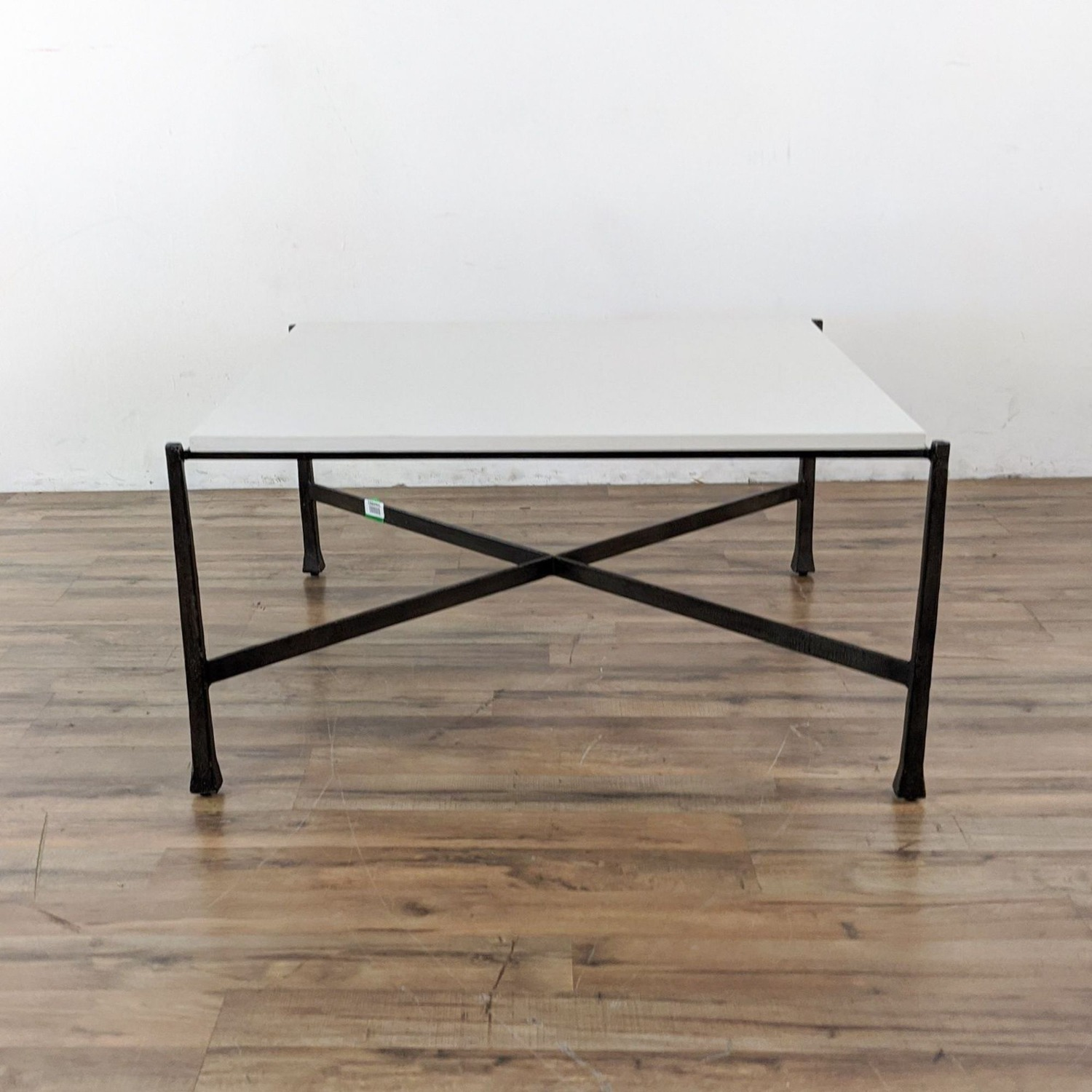 Wrought Iron Base Coffee Table - image-3
