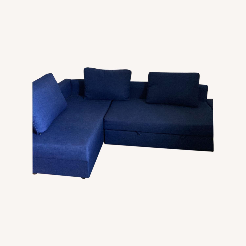 IKEA Blue Color Sleeper Sofa - image-0