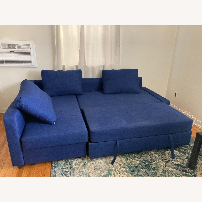 IKEA Blue Color Sleeper Sofa - image-1