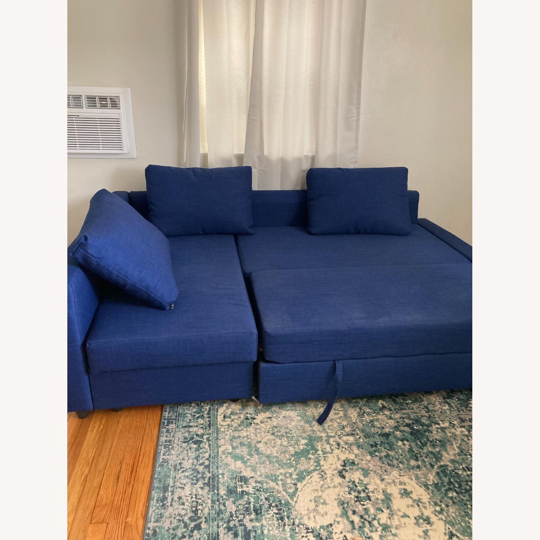 IKEA Blue Color Sleeper Sofa - image-3