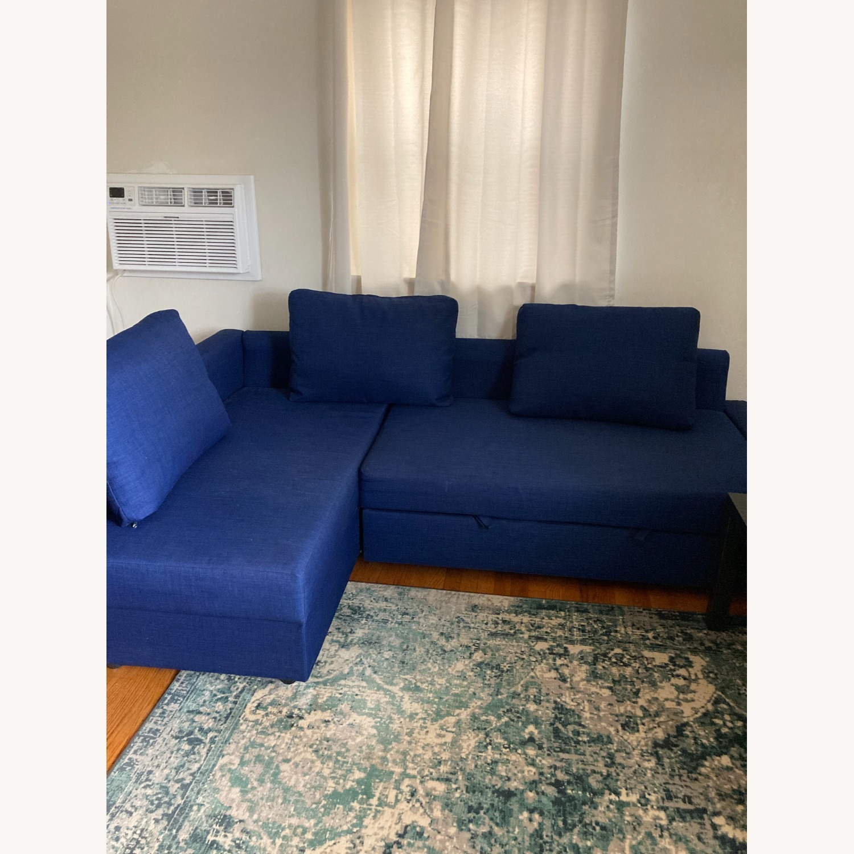 IKEA Blue Color Sleeper Sofa - image-5