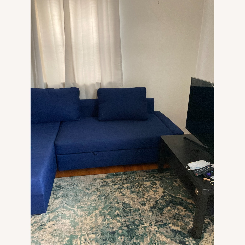 IKEA Blue Color Sleeper Sofa - image-2