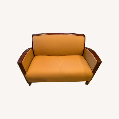 Used National Office Eloquence Leather Lounge Chair for sale on AptDeco