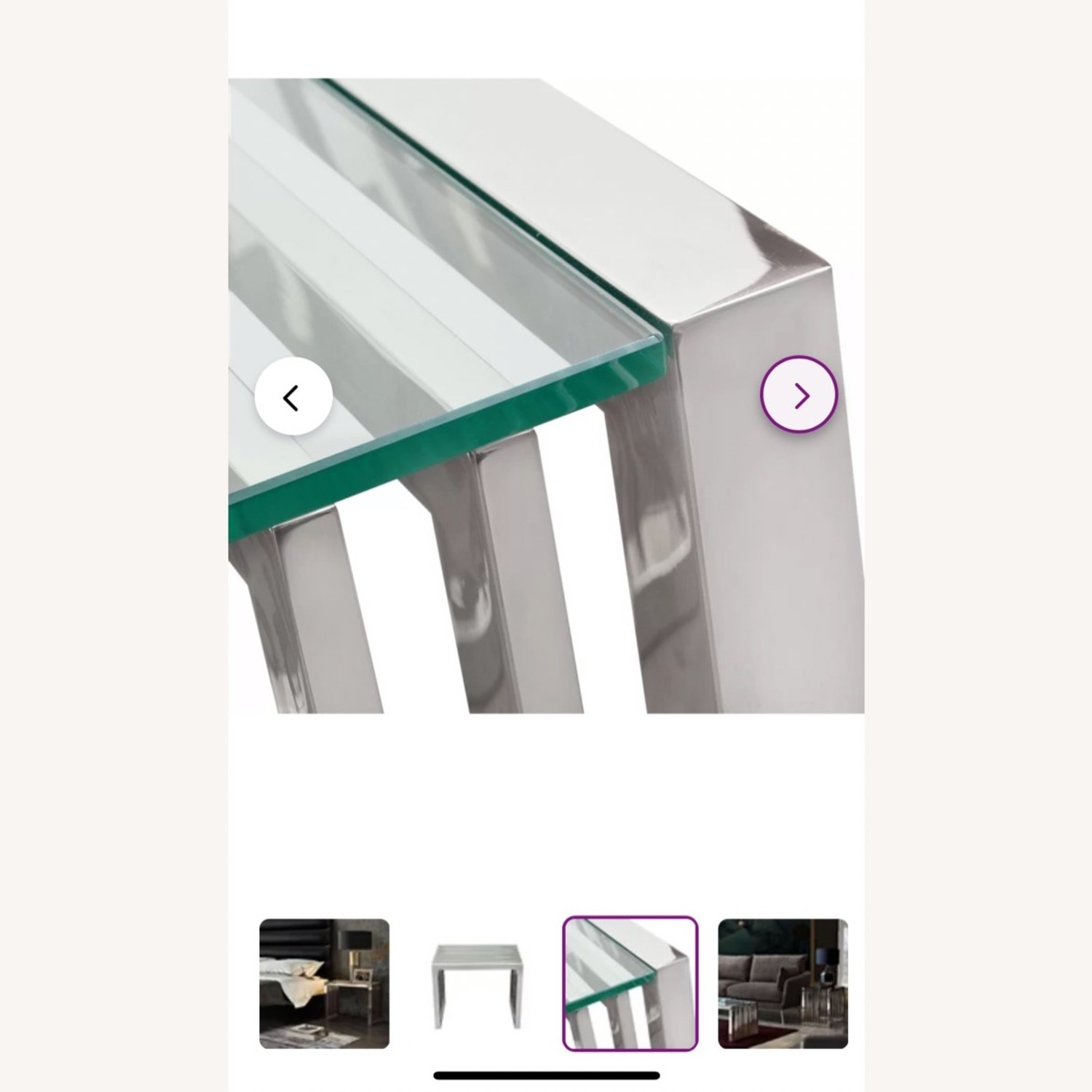 Silver and Glass End Tables - image-3