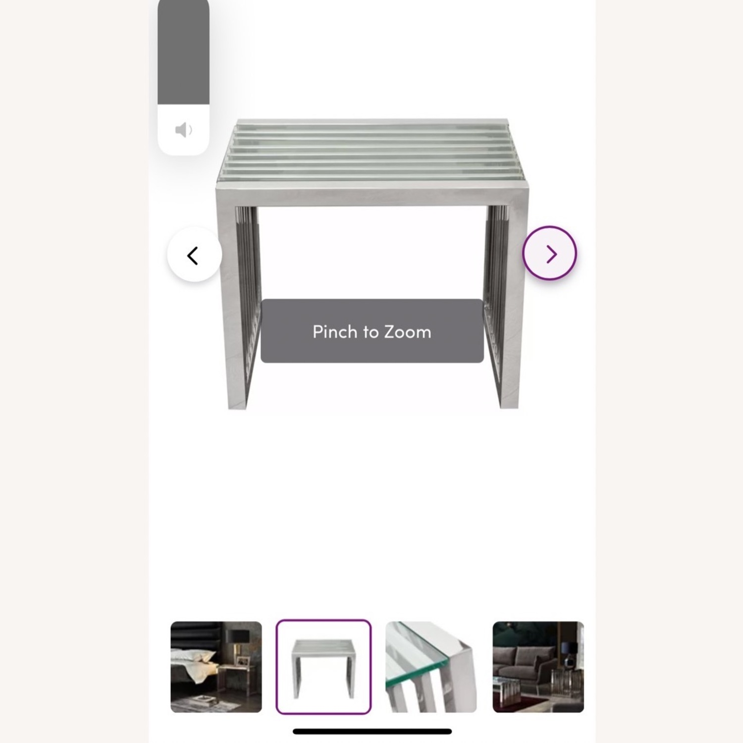 Silver and Glass End Tables - image-4