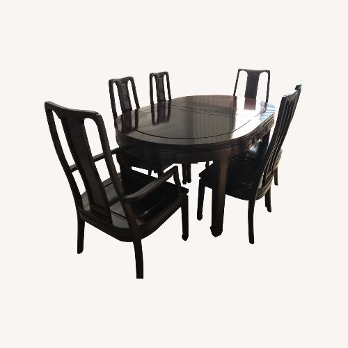 Used Rosewood Dining Set for sale on AptDeco
